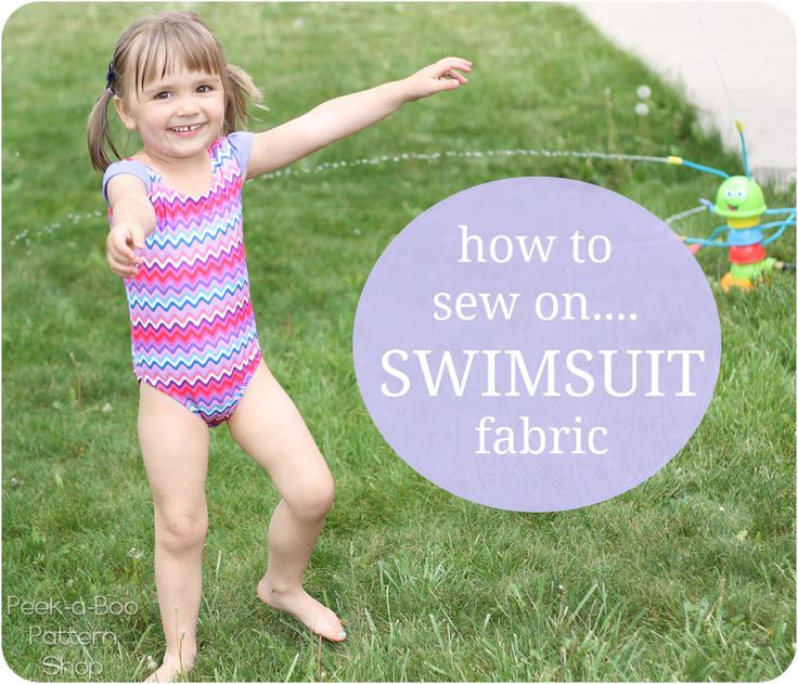 Sew Along Day 2: How to Sew on Swimsuit Fabric and Linings