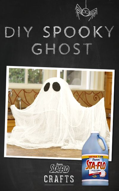 DIY Crafts - How to Make a Spooky Ghost Using Purex Sta-Flo
