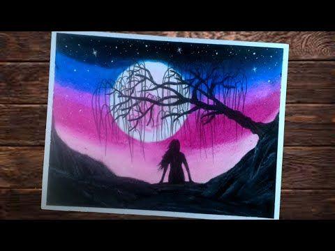 25 Lukisan Pemandangan Malam Yang Mudah Cara Menggambar Pemandangan Dengan Mudah Gambar Siluet Malam Download Gambar P Cara Menggambar Lukisan Pemandangan