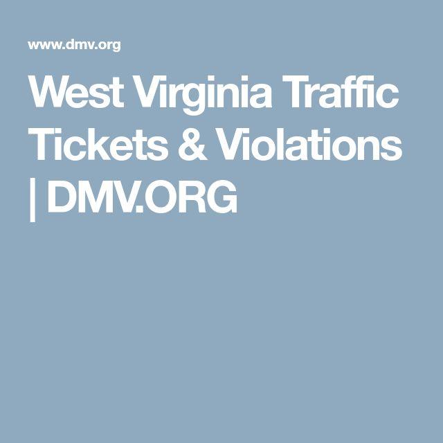 West Virginia Traffic Tickets & Violations   DMV.ORG