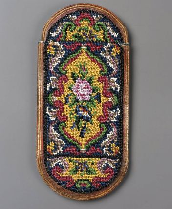 Eyeglass case, beadwork, (Sablé), French, Late 18th century: Beadwork French, American Beadwork, Boston, Cases Beadwork, Century Beadwork, Antiques Beadwork, D Art, Fine Art, Eyeglasses Cases