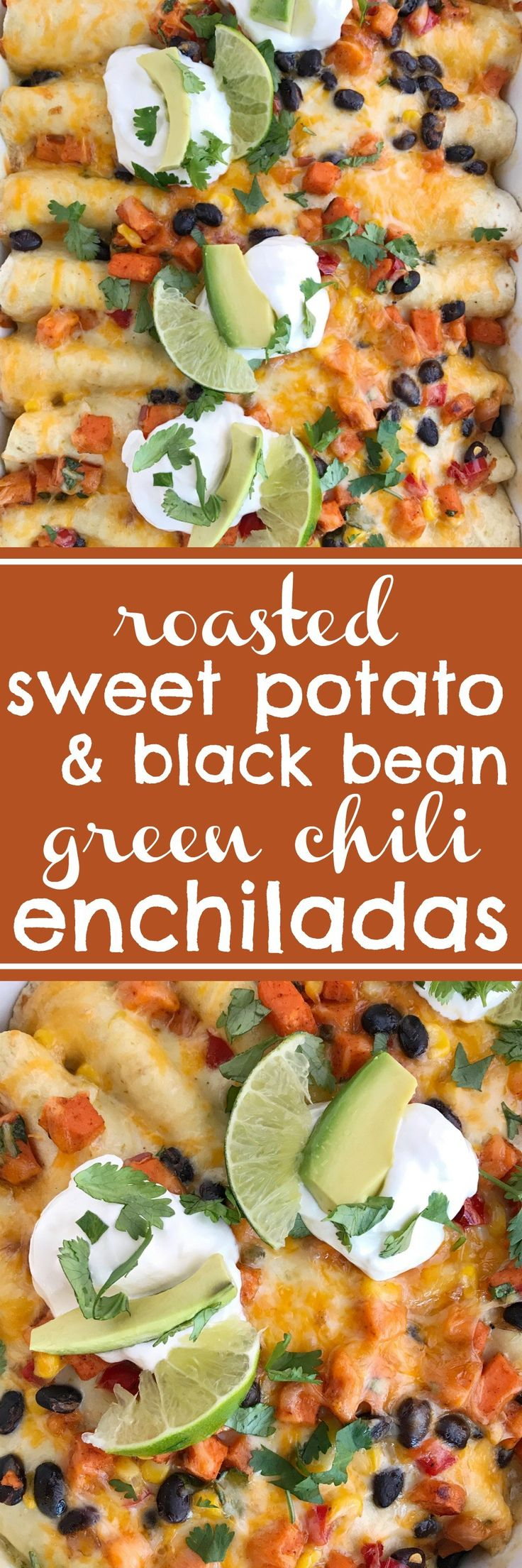 Roasted sweet potato black bean enchiladas are a delicious twist to classic enchiladas. Sweet potatoes are roasted in the oven until tender with spices and other vegetables. Roll up the mixture inside soft flour tortillas with some cheese, and top it off with an easy and creamy green chili sauce. Serve with your …