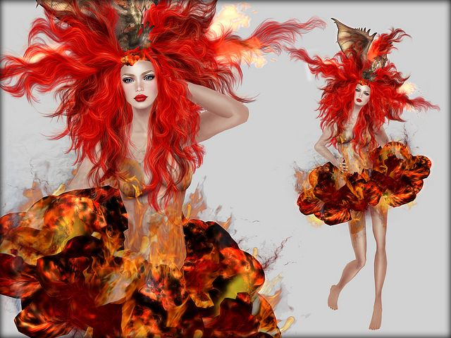 fire element costume goddess of water costume fire - Halloween Costume Fire