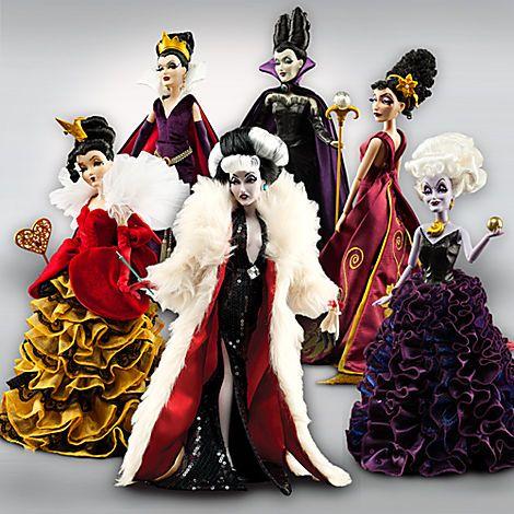 Disney Villains Designer Collection Doll Set   Dolls   Disney Store    My birthday is coming up...wink, wink :)