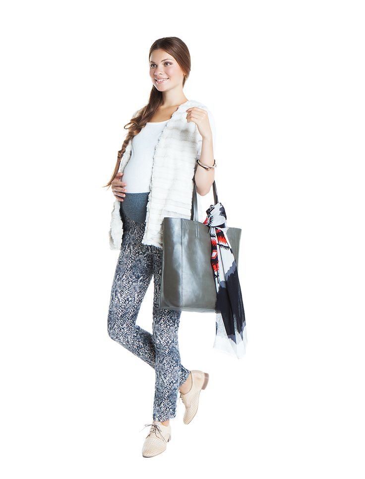 nanarise maternity | proud mom to be | animal print maternity trousers | SHOP |
