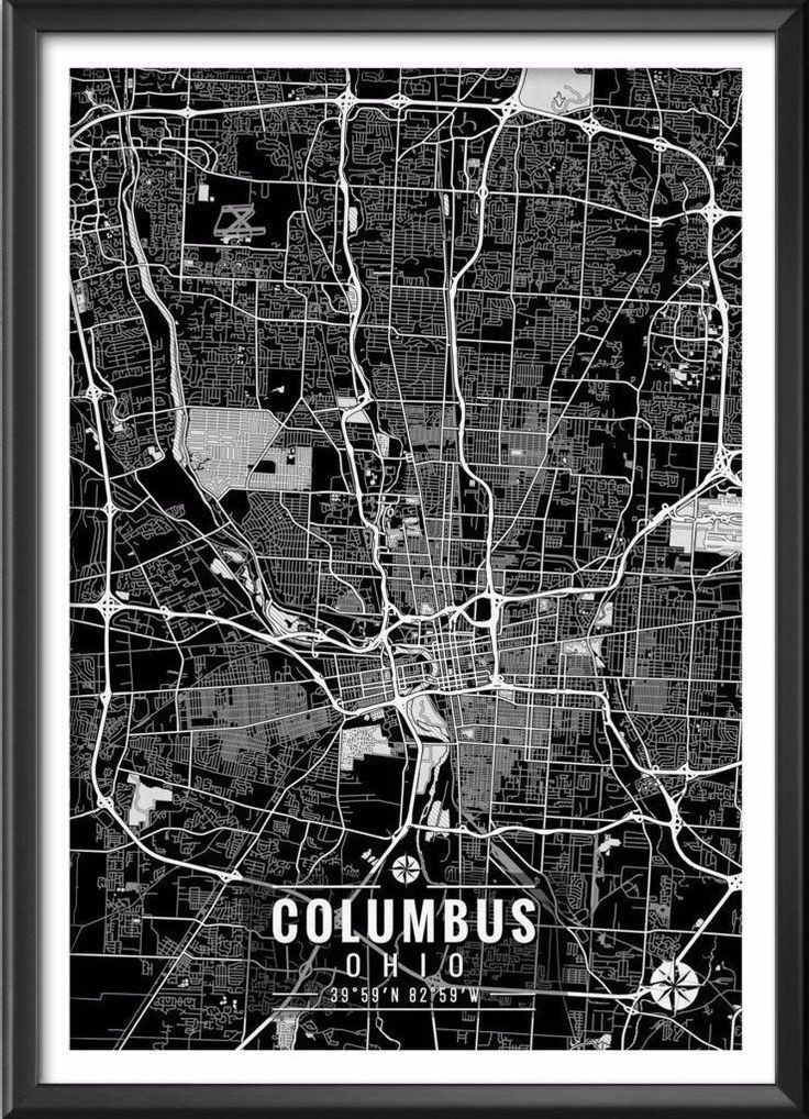 Kentucky Map Counties And Cities%0A Columbus Ohio Map with Coordinates