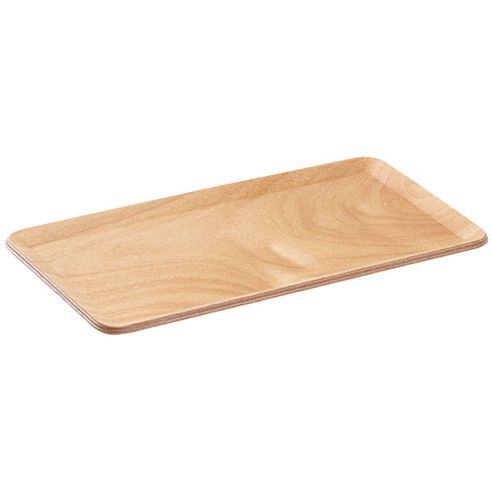 Kinto Small Teak Plywood Mat: Kinto's Small Teak Plywood Place Mat is made of plywood with a natural wooden texture. The simple and sharp design is suitable for any interior, while the slightly standing edges let you take hold of them easily when removing the rectangular mat from the table.