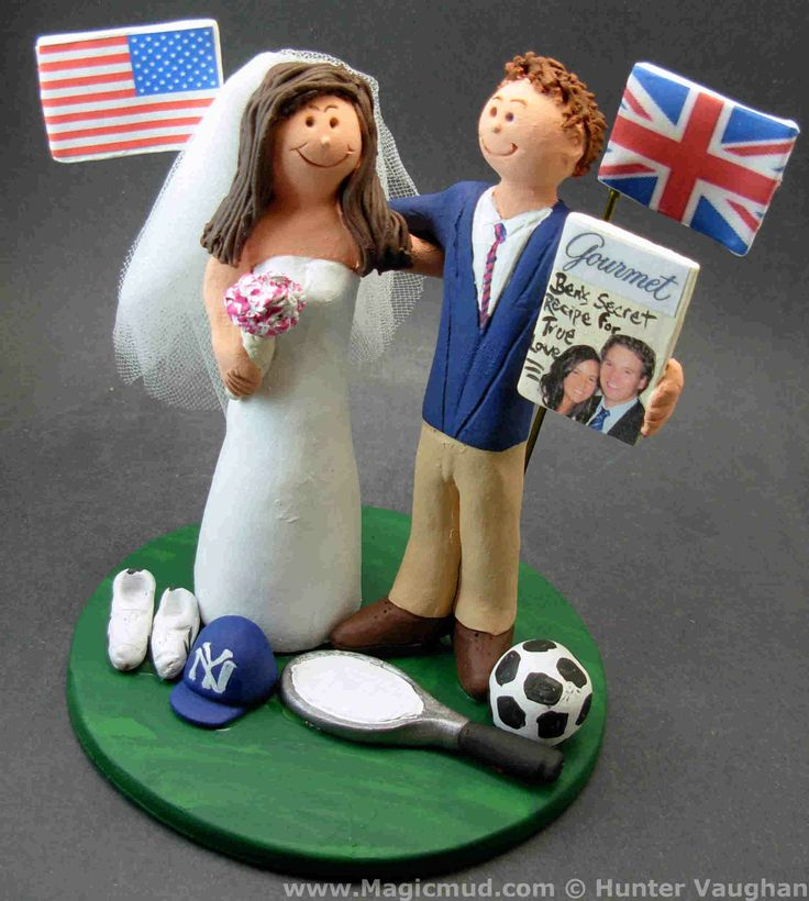 Union Jack Wedding Cake Topper http://www.magicmud.com   1 800 231 9814  magicmud@magicmud.com  $235   https://twitter.com/caketoppers         https://www.facebook.com/PersonalizedWeddingCakeToppers   #wedding #cake #toppers #custom #personalized #Groom #bride #anniversary #birthday#weddingcaketoppers#cake-toppers#figurine#gift#wedding-cake-toppers  #soccer#soccerPlayer#soccerBride#FIFA#football