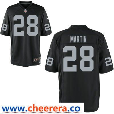 7d75d43a7 Men's Oakland Raiders #28 Doug Martin Black Team Color Stitched NFL Nike  Game Jersey