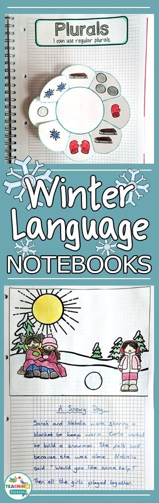 Winter Speech and Language Therapy Notebooks - These are great for the Kindergarten, 1st, 2nd, or 3rd grade speech language therapist or SLP. Manage the goals and abilities of mixed language groups while keeping records. Great evidence for parents AND administrators. Common Core aligned, but work for covering a variety of standards. Topics include sentence formulation, following directions, picture description, asking & answering questions, grammar, vocabulary, conceptual language, and more!