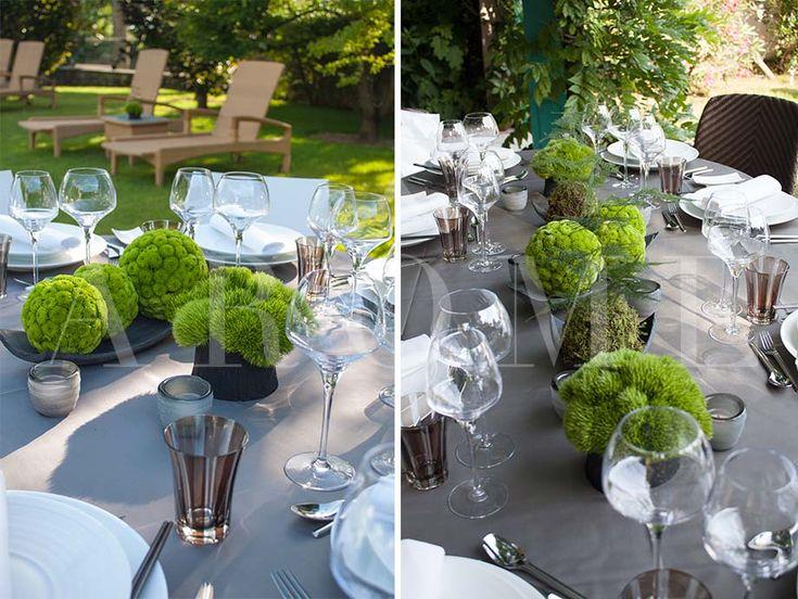 Decoration Vase Avec Sable Vert Est Blanc