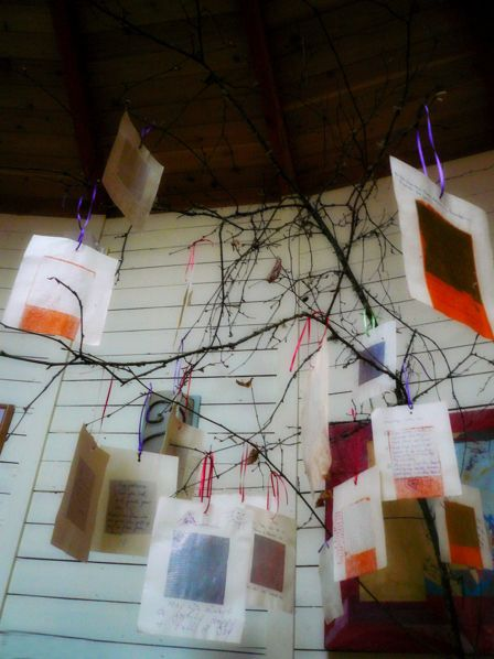 "Blessing tree: have baby shower guests write their wishes for baby on cards and then hang them on a ""tree"" you make out of branches."