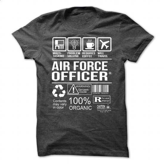 Awesome Tee For Air Force Officer - #polo t shirts #wholesale sweatshirts. MORE INFO => https://www.sunfrog.com/No-Category/Awesome-Tee-For-Air-Force-Officer-7623-DarkGrey-Guys.html?60505
