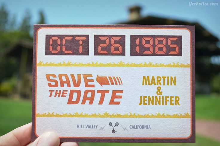 Back To The Future Save he Dates by Geekvites. http://www.geekvites.com/shop/future-boy-save-the-date/