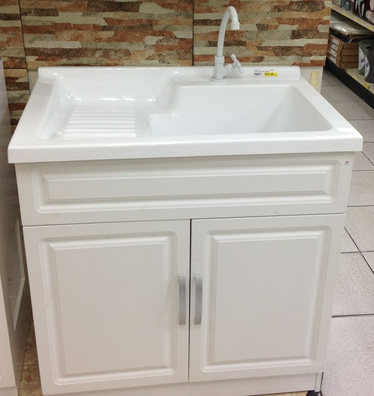 Presenza Deluxe Utility Sink And Storage Cabinet : Ove+Decors+Utility+Sink Laundry Sinks