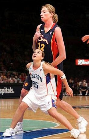 Image detail for -Short and tall women basketball players