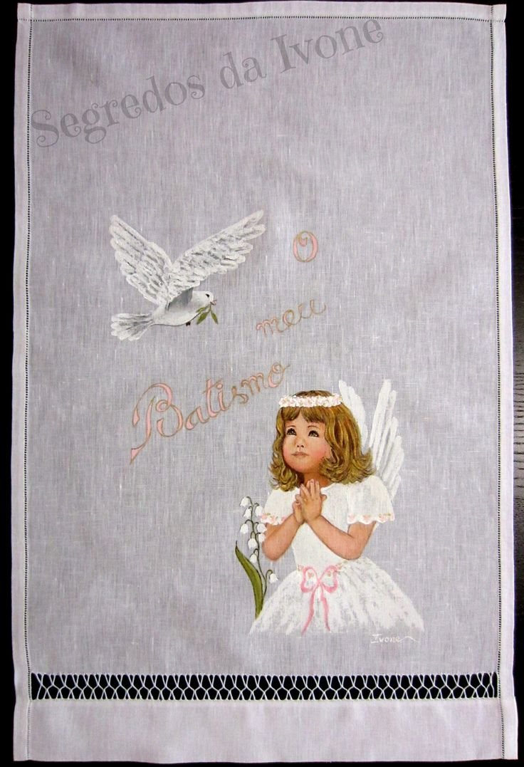 AB9- Pintura em toalha de batismo