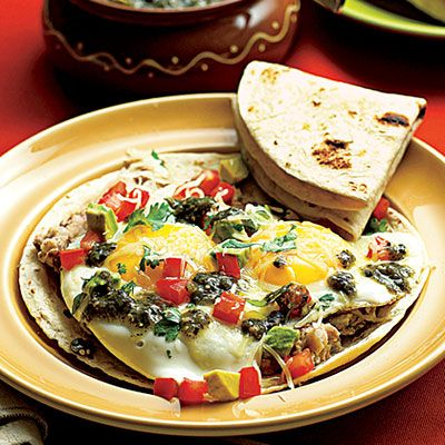 We love this quick and easy #recipe for Mexican Eggs and Beans. #MexicanFood www.ortega.com