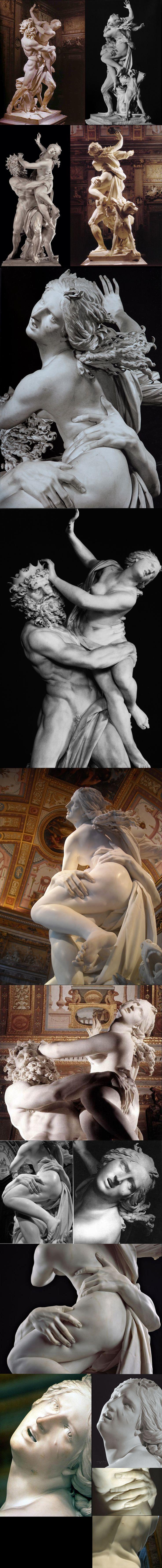 Lorenzo Bernini Pluton & Persefone. 1622. Galleria Borghese, Rome POne of the greatest work of Art in the world.
