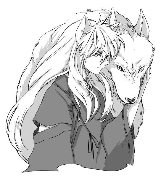 La oreja en medio de inuyasha y el lobo ¿de quien es? (inu nunca tuvo un lobo pero se ven lindos)