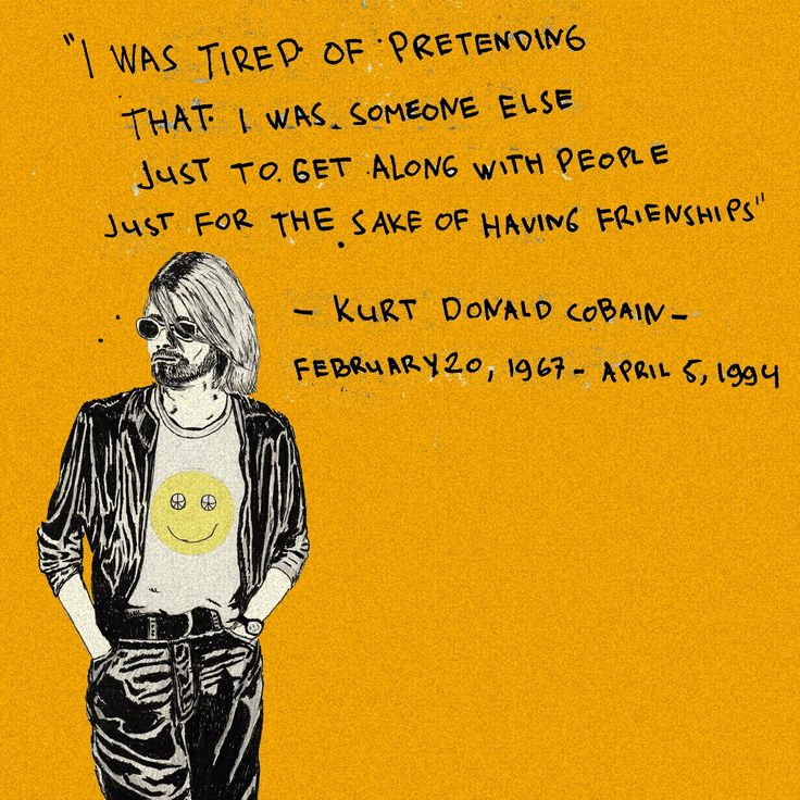 Happy birthday Kurt Donald Cobain