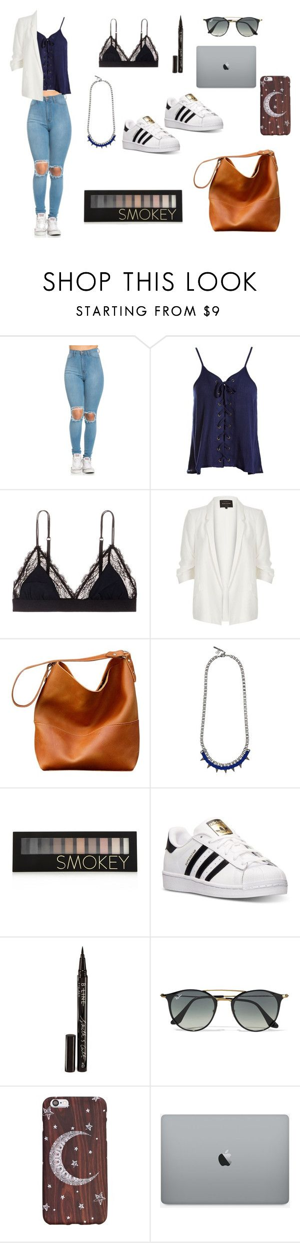 """""""60"""" by agusdiaz00 ❤ liked on Polyvore featuring Sans Souci, LoveStories, River Island, John & Pearl, Forever 21, adidas, Smith & Cult and Ray-Ban"""