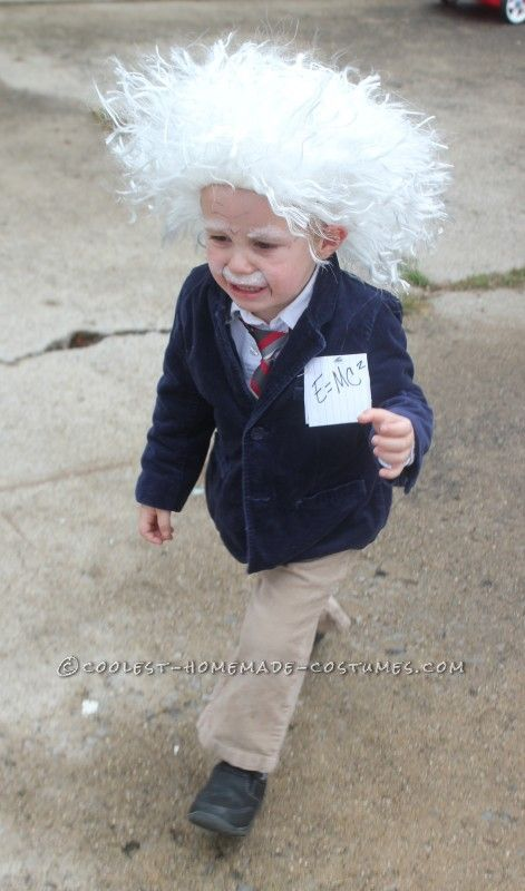Cool homemade albert einstein toddler costume homemade for Diy halloween costumes for kid boy