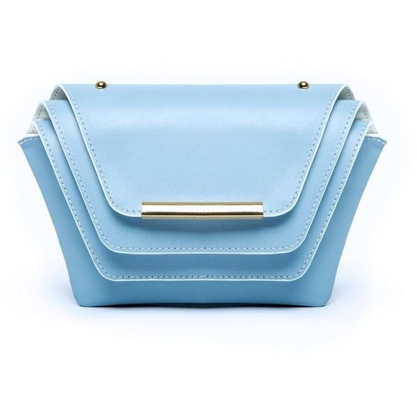 Ellia Wang - Layer Clutch in Sailor Blue ($630) ❤ liked on Polyvore featuring bags, handbags, clutches, blue clutches, chain purse, blue purse, chain handbags and blue handbags
