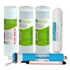 Essence Complete 75 GPD Reverse Osmosis UV Sanitizing 6-Stages Replacement Filter Set for Roes-UV75 Water System