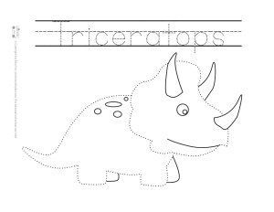 dinosaur tracing coloring pages free printable pre school themes dinosaurs preschool. Black Bedroom Furniture Sets. Home Design Ideas