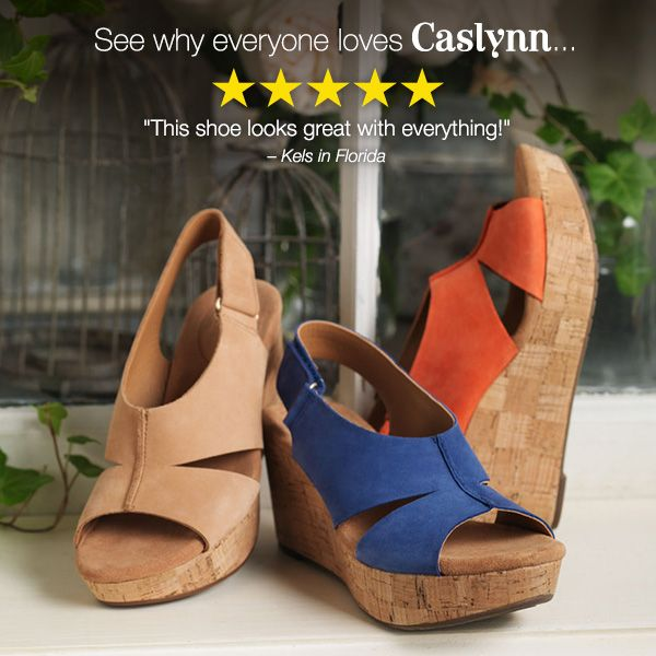 Clarks Caslynn Collection | wedges | sandals | spring style