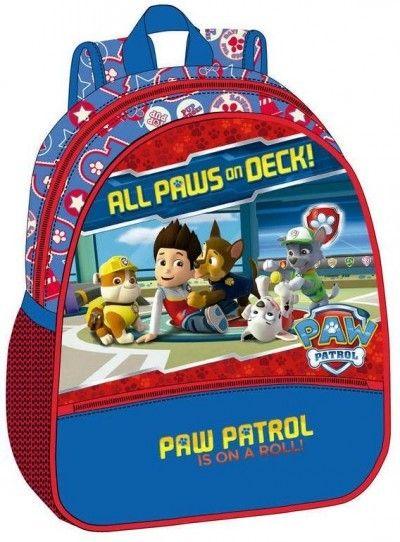 Neem al je speelgoed, schoolboeken en sportartikelen mee in deze nieuwe rugzak van Paw Patrol. De rugzak beschikt over een groot vak, een handvat, een rits aan de voorkant en verstelbare schouderbladen.Op de tas zijn de viervoetige vrienden uit de TV serie Paw Patrol te zien. De tas heeft de volgende afmetingen 23x28x10 cm. en is geschikt voor jongens en meisjes vanaf 4 jaar.   Afmeting: 10x23x28 mm - Rugzak Paw Patrol: 23x28x10 cm