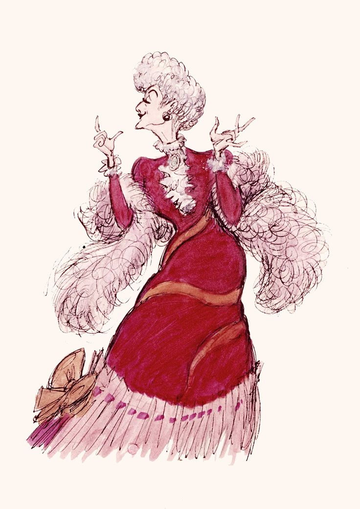 Madame Bonfamille Concept Art (The Aristocats) by Milt Kahl