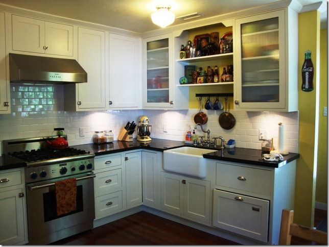 1940 S Kitchen Remodel Using Original Cabinets Kitchen