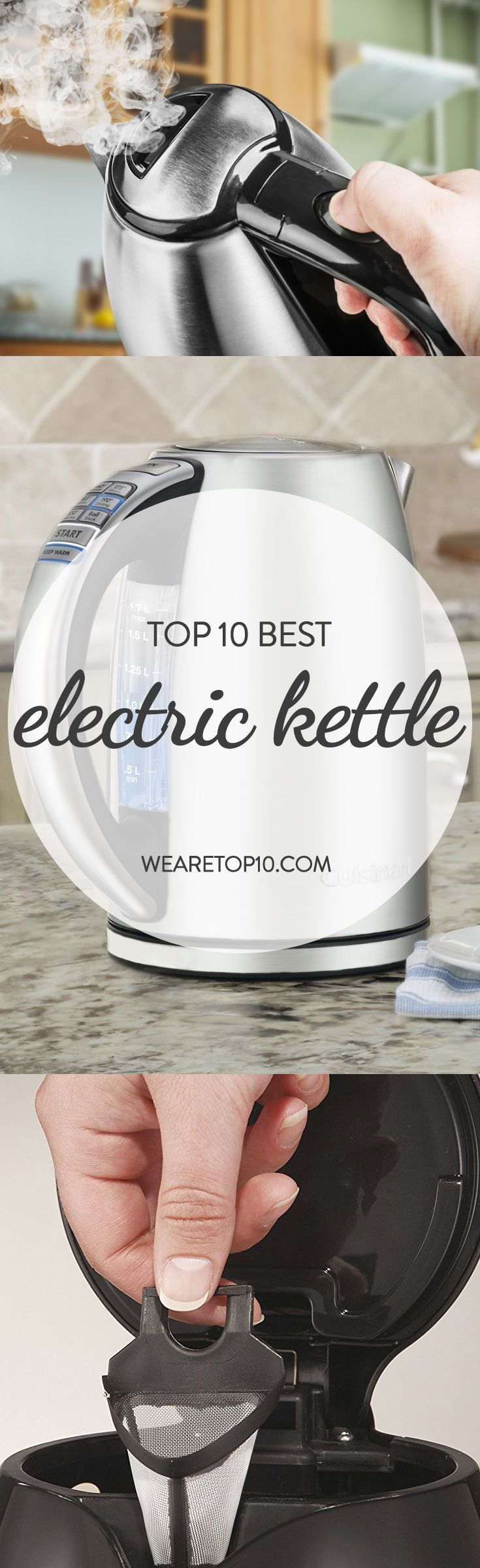 Today, you can easily find gazillions of electric kettles, but not every product is up to the mark so you have to make a wise decision at the right time. To assist you, we compiled the Top 10 Best Electric Kettle.