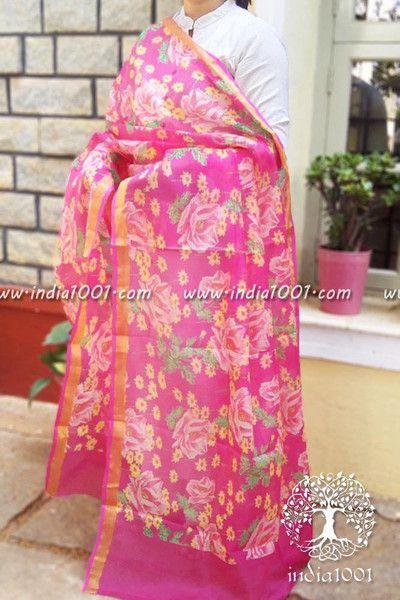 Elegant Kota Silk Cotton dupatta