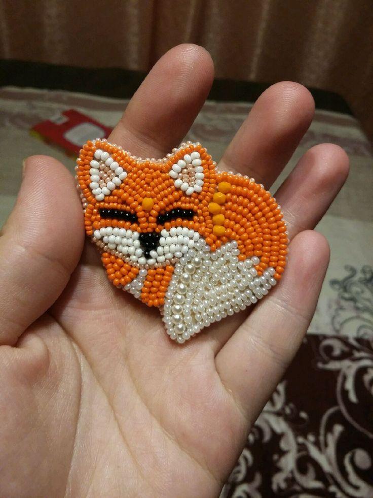"""Купить Брошь """"Спящая лисичка"""" - брошь лиса, брошь лисичка, спящая лисичка, лиса, лисичка"""