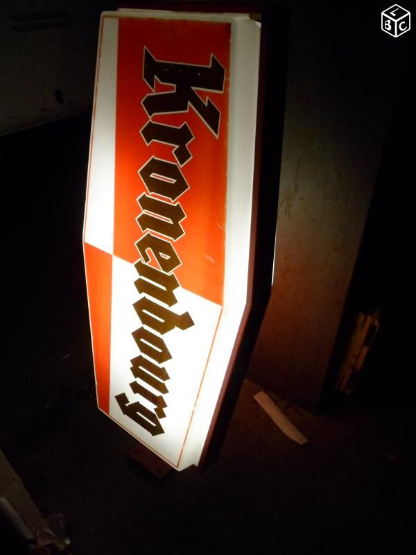Enseigne lumineuse bières KRONENBOURG 1,20m