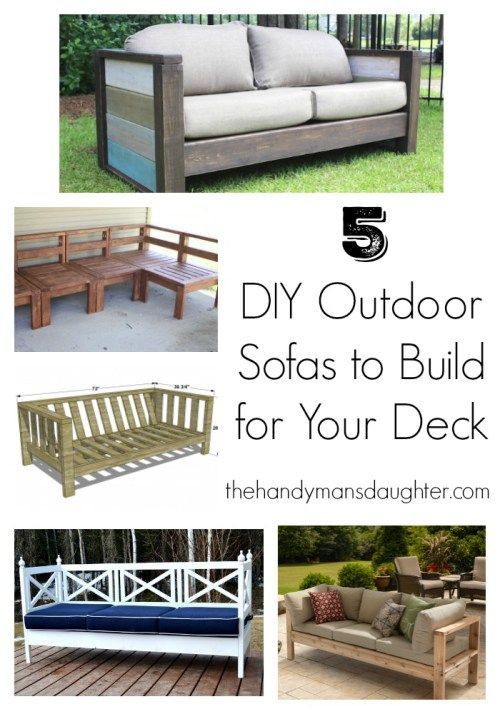 Outdoor furniture is sooo expensive, but can truly transform your deck or patio! You can make your own for a fraction of the price, and will fit your space perfectly. These five outdoor sofa plans will get you started. #woodworkingplans #outdoorfurniture