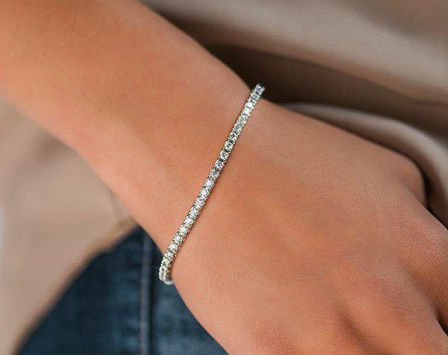 Fine Jewelry Bracelets 14k White Gold Diamond Tennis Bracelet 2 Ctw Item 55814 3010 Tennis Bracelet Diamond Jewelry Expensive Bracelets