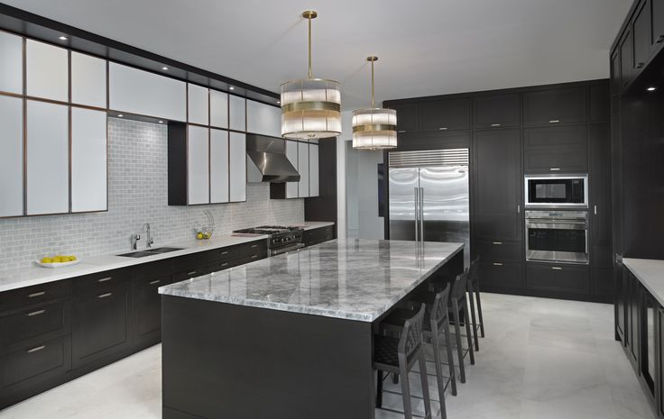 This contemporary kitchen is sleek in design and high on function.