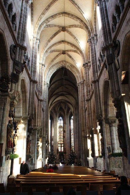 Vintage St Lorenz cathedral Nuremberg