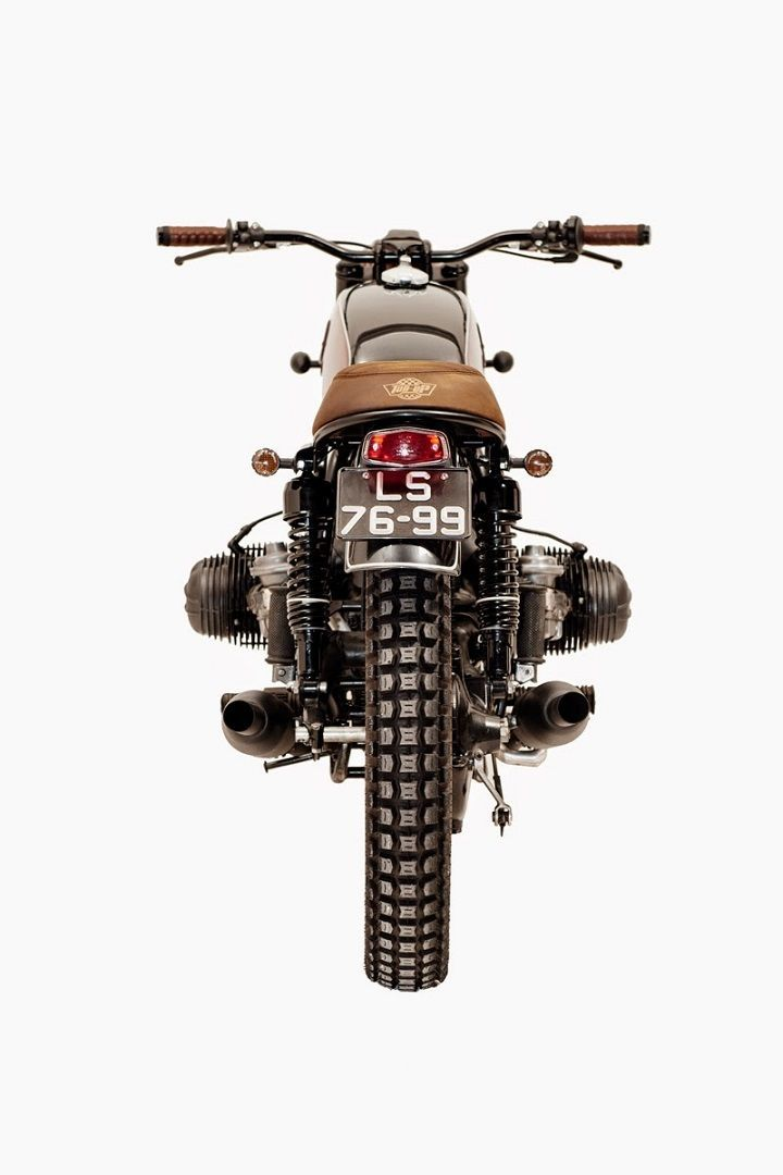 BMW R75/5 Brat Style Recall Ton-Up Garage #motorcycles #bratstyle #motos | caferacerpasion.com