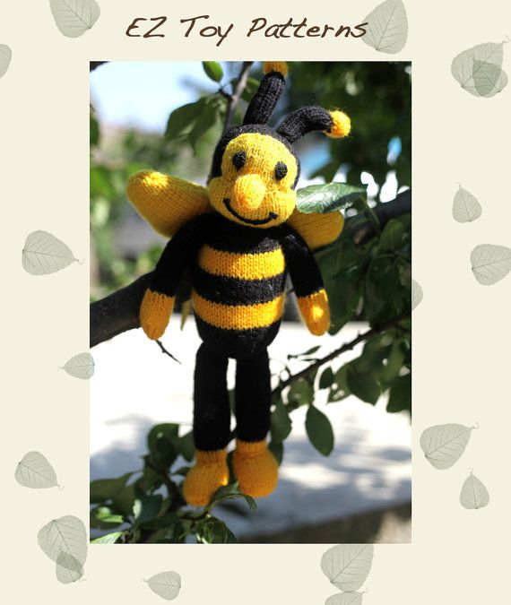 BEE  toy knitting pattern PDF by Duduna on Etsy, $3.50