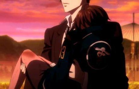 Psycho Pass Kougame carrying tsunemori akane