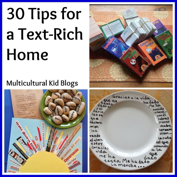 30 Tips for a Text-Rich Home - Fun ideas for adding second-language text to a home or classroom. http://multiculturalkidblogs.com/2013/11/08/30-tips-text-rich-home/
