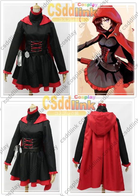 Hey, I found this really awesome Etsy listing at https://www.etsy.com/listing/162039843/rwby-ruby-rose-cosplay-costume-red-black