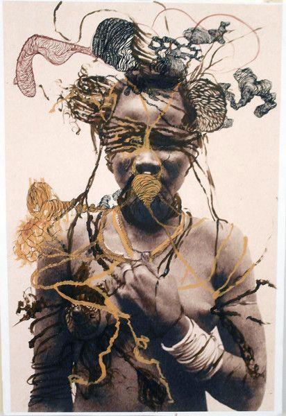 Kenyatta A.C. Hinkle: Untitled, Acrylic on laser printed photograph