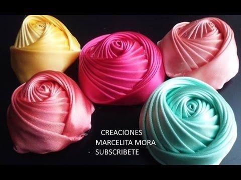 Flor Torbellino Paso a Paso -Dos Lados-Flower Ribbon -Easy-DIY