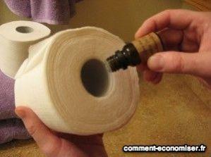 Parfumer papier toilettes huiles essentielles
